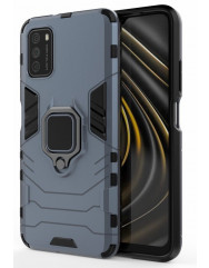Чехол Armor + подставка Poco M3 (серый)