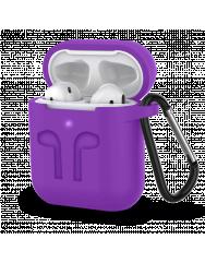 Чохол для AirPods Colors з карабіном (фіолетовий)
