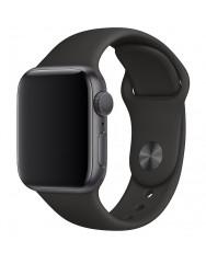 Ремінець силіконовий для Apple Watch 38/40mm (чорний)