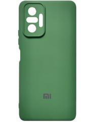 Чохол Silicone Case Xiaomi Redmi Note 10 Pro (темно-зелений)