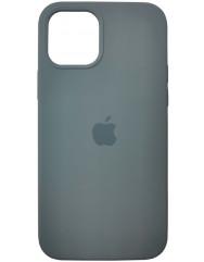 Чохол Silicone Case Iphone 12 /12 Pro (сіро-зелений)