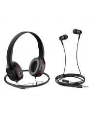 Навушники Hoco W24 (Black-red)